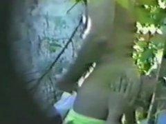 Caught on vidz SpyCam:Str8 guy  super gets BJ/rimjob in park &Cums!