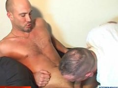 A real vidz heterosexual guy  super gets sucked his hard cock by a guy in spite of him