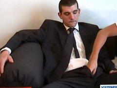 Suite trouser vidz guy with  super huge cock !
