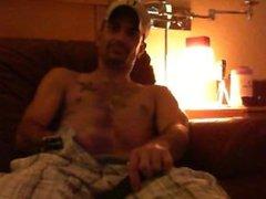 Kenny recording vidz husband JR  super stroking it!!