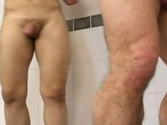 Older Younger, vidz gay amateur,  super 1 on 1, shower, bareback fuck, uncut cock suck