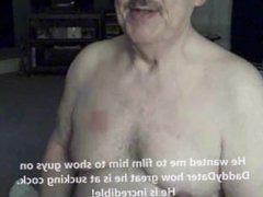 Cum Lover vidz Daddybear Grandpa  super With Dentures Drinks my Cum and Smiles