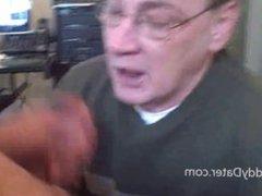 Denatured Grandpa vidz Gives amazing  super Head And Swallows Cum