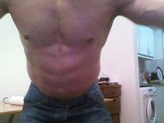 Muscle Stud vidz Jerk Off  super on Bed and Flex