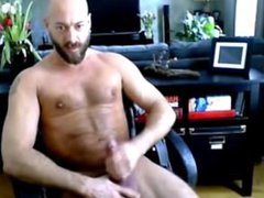 Muscle Hunk vidz solo super  super sexy - shaved head and bearded - part II