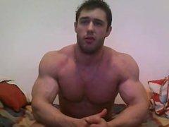 Webcam guy vidz getting a  super big new dildo