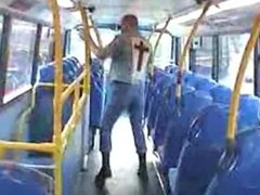 Sexy Skinhead vidz on the  super bus
