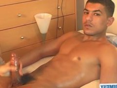 French arab vidz guy gets  super wanked his huge cock by a guy despite of him!