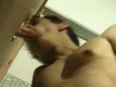 Toilet Cubicle vidz Glory Hole  super Cock Sucking