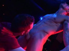 Markie More vidz Stripping at  super Stock Bar! Then gets an amazing Blowjob