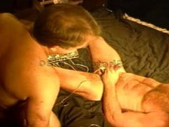Cock and vidz ball electrostim  super on muscle stud