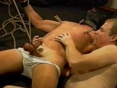 Tickle, squeeze vidz his balls  super until he cums