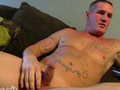 Tattooed Straight vidz Guy Maverick  super Masturbating