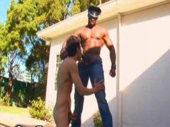 Big Muscled vidz Black Guy  super Bangs Twink