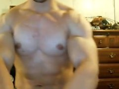 Tony D-POSING vidz AND FLEXING  super COCKY BODYBUILDER SHOWS OFF HIS PECS