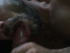 My BF vidz is sucking  super my huge cock as i'm fingering his ass