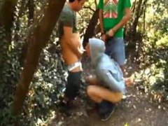 Buddy Record vidz us Fucking  super Our Handcuffed Friend in the Forest.