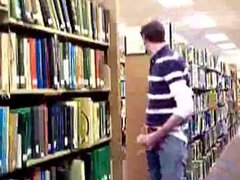 straight student vidz caught jerking  super in the library