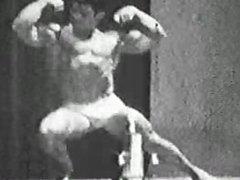 John Corvello, vidz early Playgirl  super model in bodybuilding clip from the 60's