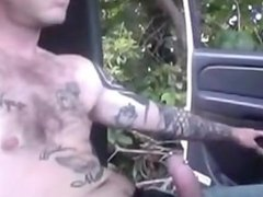 Sucking a vidz tatted guy  super outside