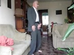 Big Cock vidz Grandpa in  super Suit