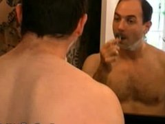 Hairy Bear vidz Roman Masturbates  super And Shaves For Work