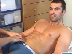 Testing his vidz cock: Nicolas  super a real straight guy get wanked his big cock by us