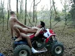 Four Buns vidz on a  super Four Wheeler