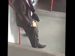 Man In vidz Public Rubs  super His Cock