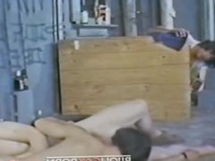 Two young vidz men fuck  super in an alley while a voyeur watches