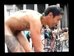 Nude Pubkic vidz Bike Ride  super in Downtown Mexico