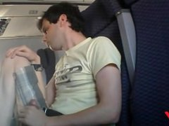Cum flying vidz on plane