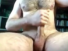 Hairy stud vidz lets it  super go