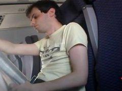 Cumming on vidz Plane After  super Delay