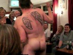 Str8 Footballers vidz strip in  super a pub