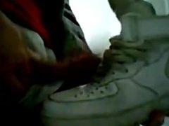 boy cums vidz on sneakers