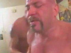 Bald Muscle vidz Threesome