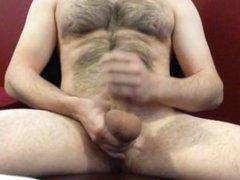 edging out vidz a big  super load - cum dripping down dick and balls