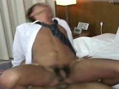 Asian twink vidz strokes cocks  super while being fucked from bottom