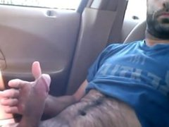 daddy caught vidz jerking in  super his car in the park