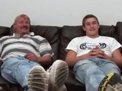 Father and vidz Son Wanking  super On Cam Together