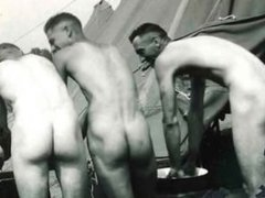COLLECTION OF vidz SPYCAM CLIPS  super OF WWII SOLDIERS ~ SHOWERS, EXAMS, ETC -(©¿©)-