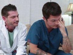 Naughty brunette vidz gays with  super tattooed bodies Brody Wilde and Tristan Mathews