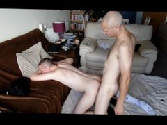 Nortybrum gets vidz ploughed by  super bf, filmed by young lad as he watched