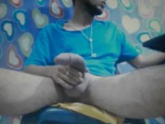 hot latino vidz guy with  super huge horse cock shoots a heavy cum load on cam