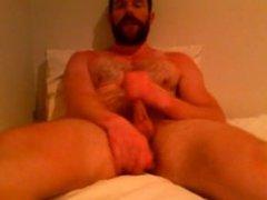 Bear Daddy vidz Jerks off  super in bed