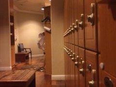 Locker Room: vidz Naked Guy  super Caught Tugging His Cock