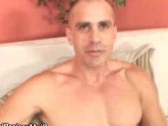 Muscled Bald vidz Guy Masturbates