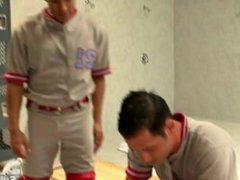 Tattoed gay vidz jocks 69ing  super in locker room