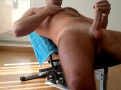 Jerk Off vidz On Weight  super Bench